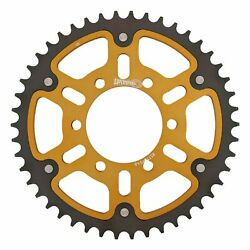 New Supersprox Stealth Sprocket, 46t For Marvic 525 Pitch 6 Bolts 00, Gold