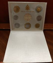 2000 Vatican Italy Rare Set Coins With Silver Unc Holy Year 2000 Official Box