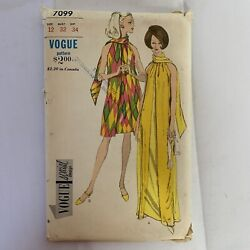 Vogue Vintage Sewing Pattern 7099 Evening and Street Length Dress Size 12 $44.97