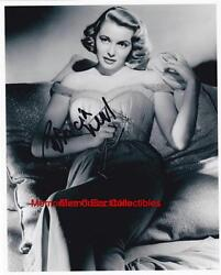 Patricia Neal Day The Earth Stood Still And Hud Signed Autograph 8x10 Bandw Photo