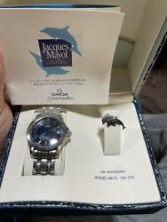 Omega Seamaster Jacques Mayol 100m Dive Stainless Steel Analog Wrist Watch