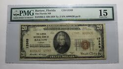 20 1929 Bartow Florida Fl National Currency Bank Note Bill Ch. 13389 F15 Pmg