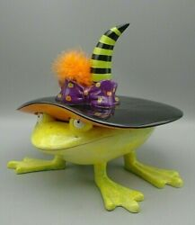 Department 56 Patience Brewster Krinkles Halloween Witch Frog Candy Dish 2005