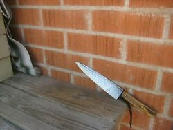 Vintage 8 Blade Ontario Hammer Forged Carbon Chef Knife Usa
