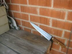 Vintage 10 Blade Shapleigh Hammer Forged Carbon Chef Knife Usa