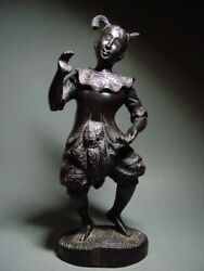 Antique Indonesia Wood-carved Balinese Temple Dance Figure. Circa Late 19th C.
