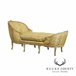 French Louis Xv Antique Painted Chaise Lounge