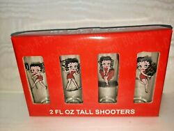 2008 Betty Boop Shooters Glasses Set Of 4