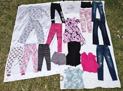 Lot Of 18 Pcs Girls Summer, Spring Clothes Size 8-10