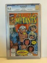 New Mutants 87 Cgc 9.8 -1st Appearance Of Cable