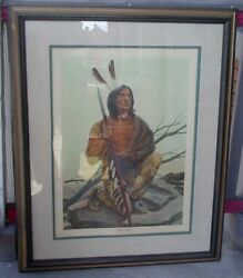 John Ruthven Miami Indian Signed And Numbered 35/1000 Print Miami University...