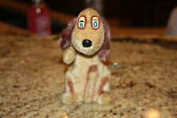 Vintage Wind Up Dog Marx Toys Tail Spin Pup And Ears Move Made In Japan