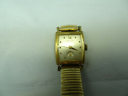Hamilton Russell 730 I7 Jewel Vintage Unique Dial Watch Stops For Restoration