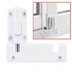 Patio Sliding Door Security Foot Lock Kick Lock, Fits On Top Rail-childproof And