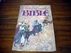 1974 The Childrens Bible Large Hardcover Illustrated Golden Press New Old Test