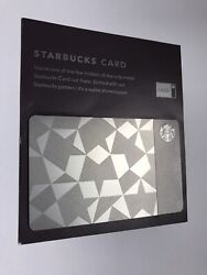 Rare 2012 Starbucks Stainless Steel Metal Card Gift Card - Only 5000 Were Made