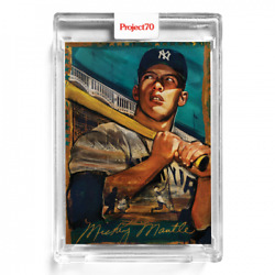 2021 Topps Project 70 100 Mickey Mantle 1952 By Andrew Thiele Yankees Pre Sale