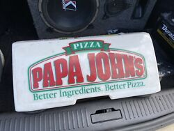 Papa Johns - Pizza Delivery Driver Car Truck Magnetic Sign Topper Light No Cord
