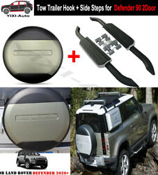Fit For Defender 90 L663 2d 2020 2021 Side Steps Running Boards Tire Tyre Cover