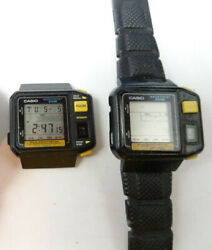 Casio Lcd Alarm 509 Pulse Meter Vintage Watches 1 Runs To Restore Or Parts