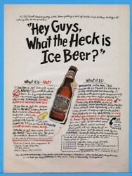 1994 Icehouse Beer Plank Road Brewery Miller Milwaukee Wi Ice Brewed Print Ad