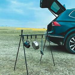Uilb Indian Hanger Camping Tripod Grill For Cooking, Portable Drying Rack,