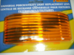 Rv - Motorhome - Rectangle Amber Porch Lens - Replacement - Keeps Bugs Away