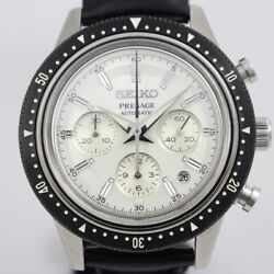 Free Shipping Pre-owned Seiko Presage Crown Chronograph 55th Anniversary Model