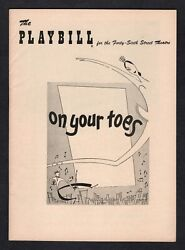 Vera Zorina On Your Toes Elaine Stritch / Rodgers And Hart 1954 Opening Playbill