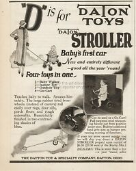 1925 Dayton Toy And Specialty Company Ohio Daton Stroller Babys First Car Print Ad