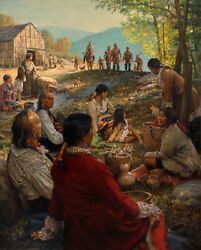 Coming Home - Robert Griffing - Eastern Frontier Indian Print - New