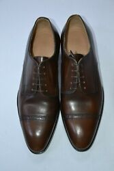 New Kiton Napoli Mens Dress Leather Shoes Made In Italy Size Eu 42 Uk 8 Us 9