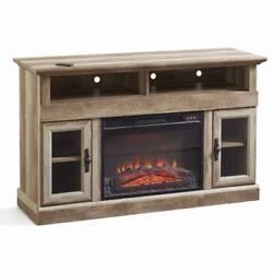 Farmhouse Media Console Fireplace Tv Stand For Tvs Up To 60 Contemporary Table