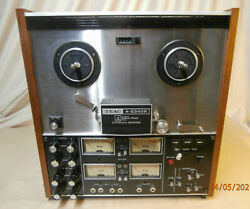 Vintage Teac A-2340r 4 Channel Reel To Reel Tape Deck And Cover-read Description
