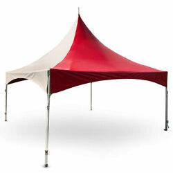 Commercial 20x20 High Peak Tent Event Party Canopy Red White Vinyl Gazebo