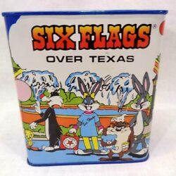 Six Flags Over Texas Looney Tunes Tin Bank - 1987 - Vintage - Very Rare
