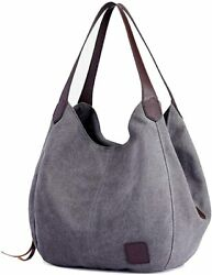 TCHH DayUp Hobo Purses for Women Canvas Tote Shoulder Bags Cotton Handbags $46.14