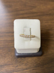 Cute Dainty 14k Yellow Gold W/ 1/2 Ctw Natural Diamonds Stackable Band Ring