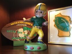 Vintage 1960s Nfl Green Bay Packers Player Figurine,large Rare Size.