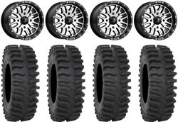 Msa Machined Brute 14 Utv Wheels 32 Xt400 Tires Can-am Maverick X3