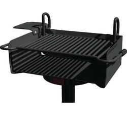 Park Grill Commercial - 360º Rotation - 640 Sq In Area - Perm Or Portable Mount