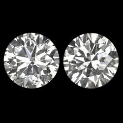 1.92ct Very Good Cut E-f Color Diamond Stud Earrings Pair Round Natural 2 Carat