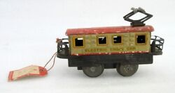 Vintage Old Rare Wind Up Electrical Engin Car Made In Japan Litho Tin Toy
