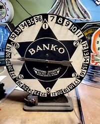 1940's Bank-o Promotional Roulette Slot, Gambling ,see My Porcelain Neon Sign