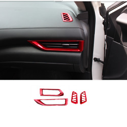 For Nissan Sentra 2020-2021 Dashboard Air Vent Cover Trim Bright Red 4pcs