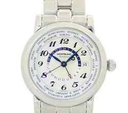 Star World Time 106465 Gmt Silver Dial Automatic Menand039s Box And Paper