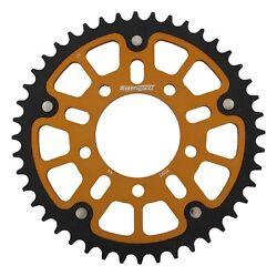 New Supersprox Stealth Sprocket, 44t For Marvic 520 Pitch 5 Bolts 00, Gold