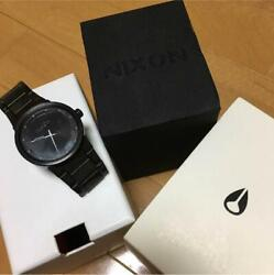 Nixon A160001 Cannon Black Stainless Steel Analog Men's Watch Japan Shipped