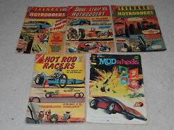 Comics Lot Of 5 Hot Rod Racers Hotrodders Mod Wheels