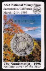 5m Ana National Show 3/99 Ca The Numismatist Cover Reg And Jumbo Phone Card